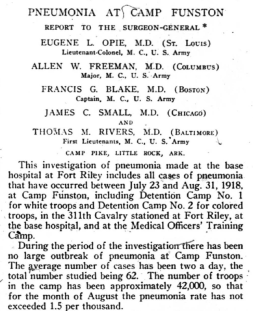 Pneumonia at Camp Funston